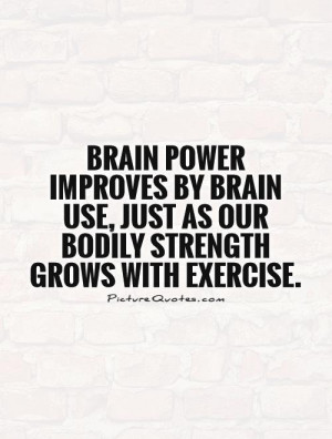Brain Power Quotes