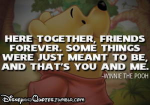 Winnie the Pooh quote!, This is such a cute friendship cute!