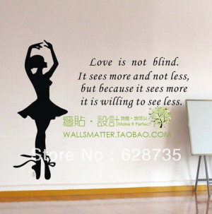 Romantic-Love-poem-in-English-Ballet-girl-wall-art-decal-stickers-free ...