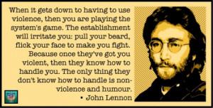 John Lennon On Nonviolence