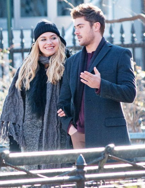 Zac Efron and Imogen Poots filmed a park scene for their upcoming ...