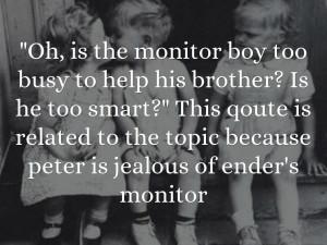Jealous Boyfriend Quotes Ender's game quotes