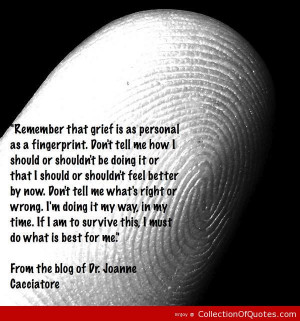 Grief is like a fingerprint quote