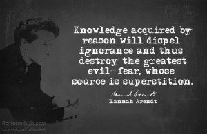Quote ~ Hannah Arendt