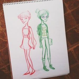 ... Fangirl. #100happydaysThey're in red and green ink! PERFECT.RED