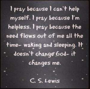 Lewis on prayer