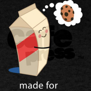made_for_each_other_cookies_and_milk_dark_tshirt.jpg?color=Black ...