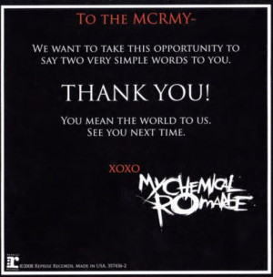 My Chemical Romance Quotes Tumblr