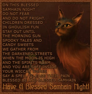 While Samhain was in progress, it was either fun, or horrid, depending ...