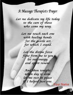 therapist massage quotes massage therapist prayer massage therapist ...
