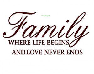 ... Wall Decal - Vinyl Wall Decals, Wall Decor, Wall Quotes, Family Wall