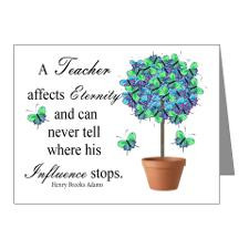 retired teacher quote BUTTER Note Cards (Pk of 10) for