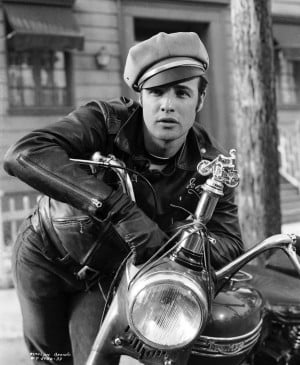 Marlon Brando from the 1953 Outlaw Biker Film 'The Wild One'