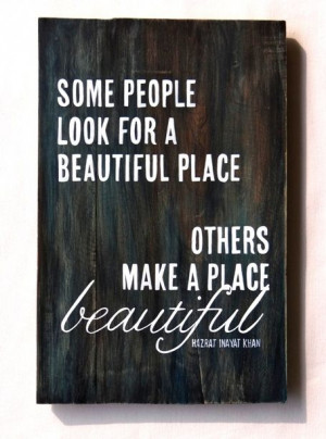 Hand painted quote on wood