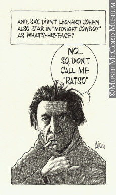 Leonard Cohen Drawing