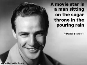 movie star is a man sitting on the sugar throne in the pouring rain ...