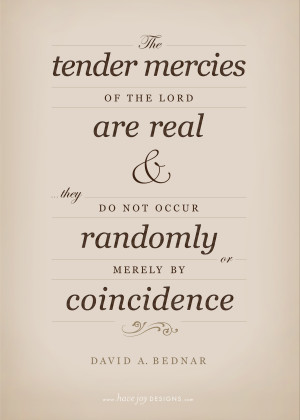 Tender Mercies of the Lord, David A. Bednar (free printable!)