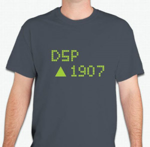 Delta Sigma Pi 1907 Stock Quote t-shirt - back says