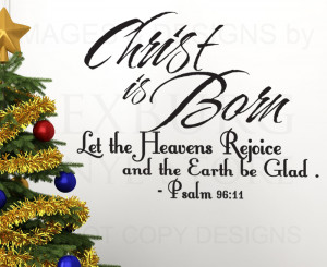 ... Decal-Sticker-Quote-Vinyl-Saying-Christ-is-Born-Christmas-Holiday-C20