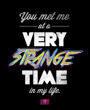 ... › Portfolio › Very Strange Time (Fight Club) - Quote Series
