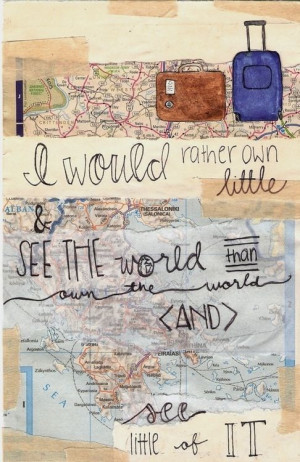 Travel - life - see the world - Quote -