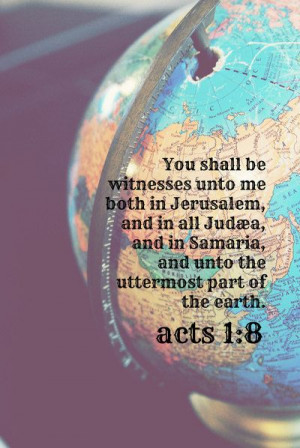 Missions Scripture Art Missionary Bible Verse Globe Christian quote ...
