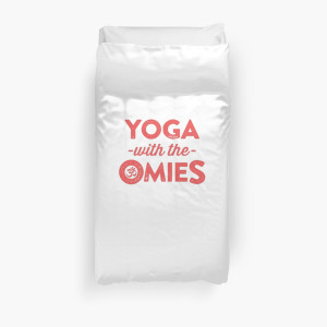 Yoga With The Omies - Yoga Top, Funny Yoga Quote, Red Ink by ABFTs