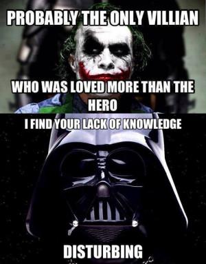 Funny Darth Vader Joker Villain1jpg Picture