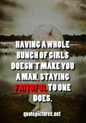 Quotes About Faithful Men