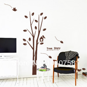White Family Tree Branch of Tree Love Quotes Wall Stickers with Birds ...