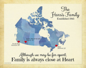 Distance Family Quotes Personalized family map, map