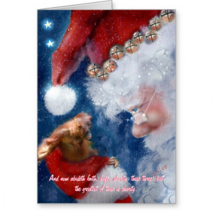 Christian Quote Animal with Santa Charity Greeting Cards