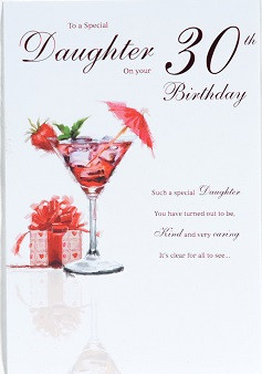Special Daughter 30th Birthday Card