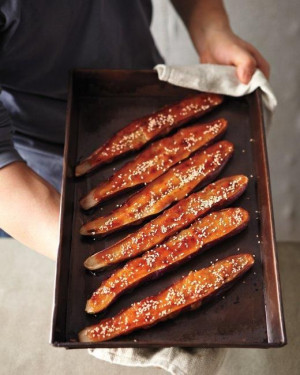 Chef Nobu Matsuhisa's Simple Recipes // Nobu's Eggplant with Miso ...
