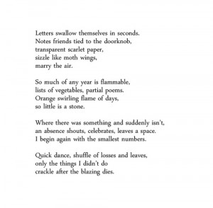 Burning the Old Year by Naomi Shihab Nye- reposting because this poem ...