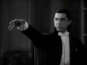Bela Lugosi as Count Dracula (1931).