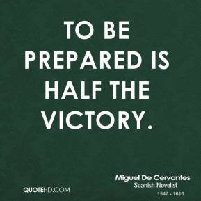 Being Prepared quote #2