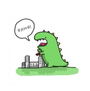 Cute Dinosaur Rawr Drawing