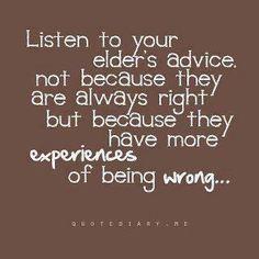 Very true~honor your parents your elders! More