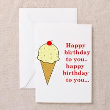 HAPPY BIRTHDAY (ICE CREAM) Greeting Card for