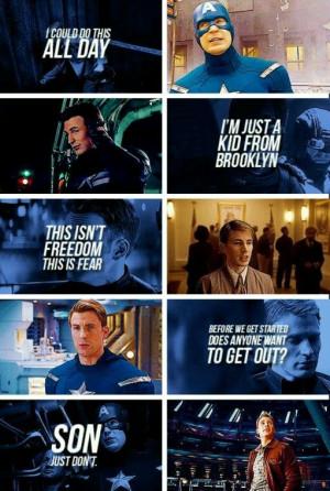 Captain America Quotes I love Captain America!!!!!