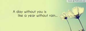 day without you is like a year without rain... , Pictures