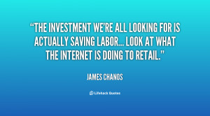 The investment we're all looking for is actually saving labor... Look ...