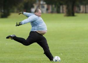 Funny Fat Man Boy Sport Football Soccer Photo Pose
