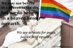 Atheists for peace, justice, and equality