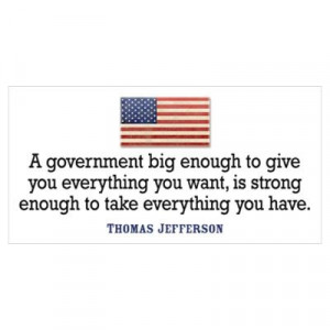 Thomas Jefferson: Anti Big Government