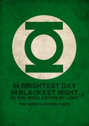 Green Lantern Corps Fastfood