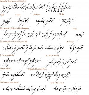 Common Tolkien Elvish Phrases Clinic
