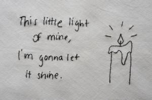 mine, I'm gonna let it shine.