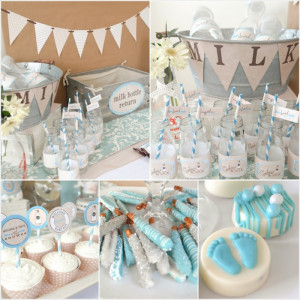 Milk and Cookies Baby Shower Party